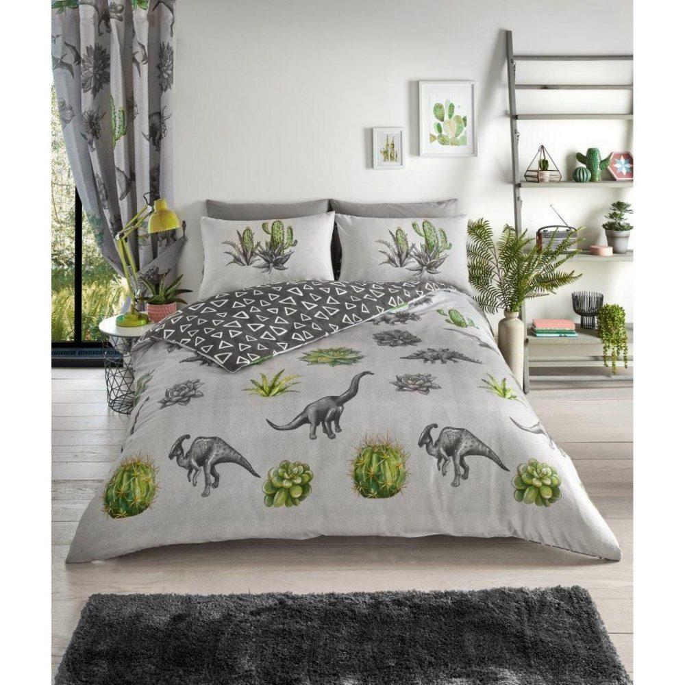 11357230 printed duvet set dinosaur dreams double grey 1 2