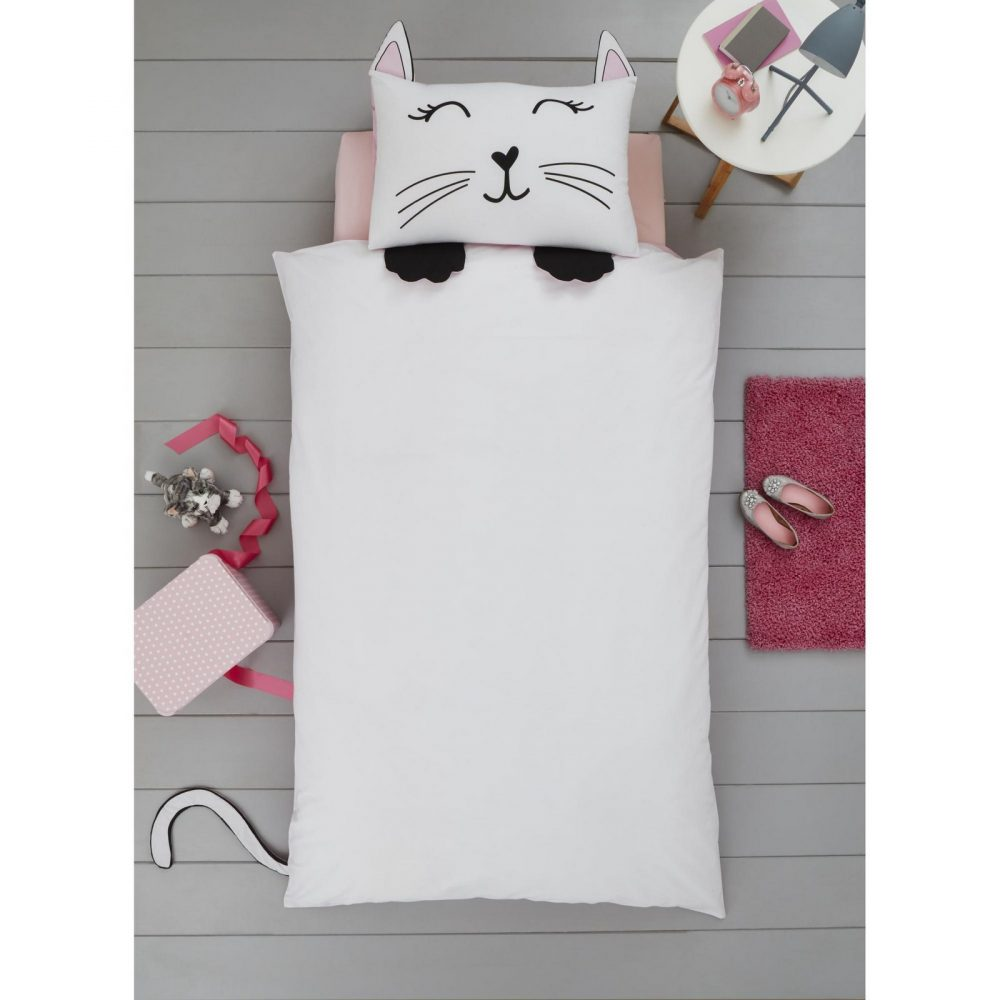 11357902 cat shaped duvet set single 1 2