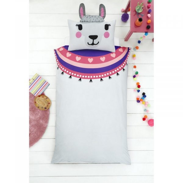 11357940 llama shaped duvet set single 1 1