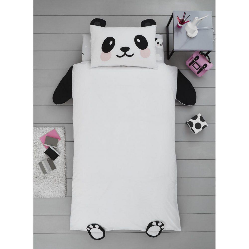 11357964 panda shaped duvet set single 1 1