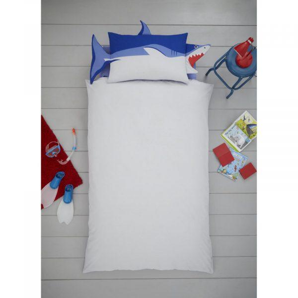 11357971 shark shaped duvet set single 1 2