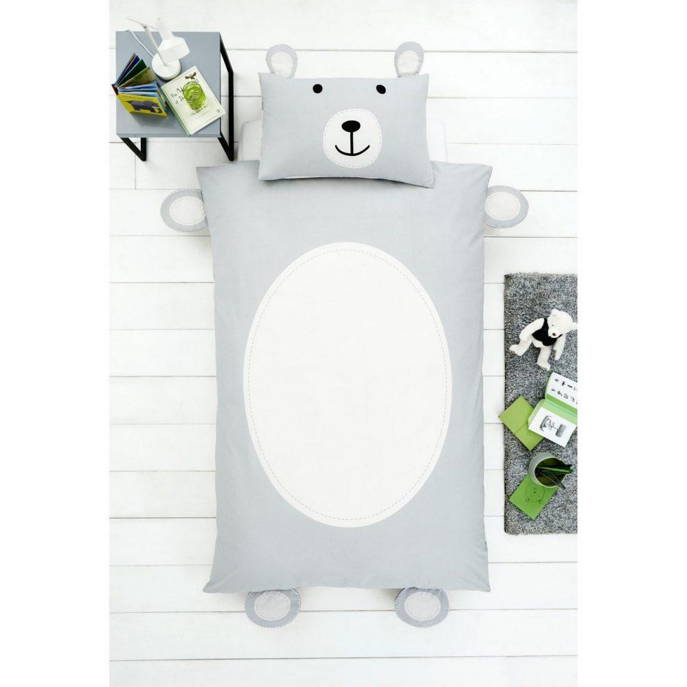 11357988 teddy bear shaped duvet set single 1 2