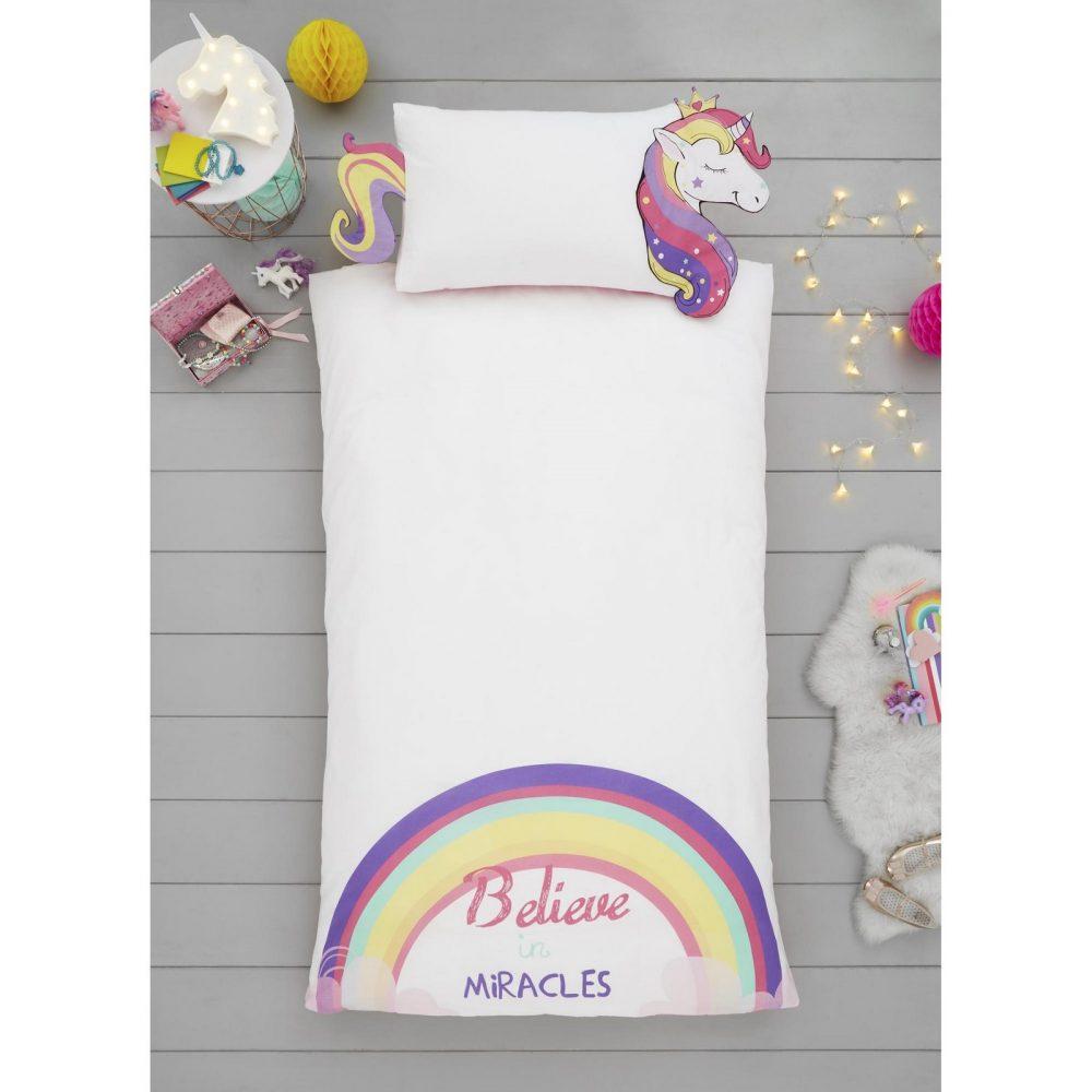 11357995 unicorn shaped duvet set single 1 2