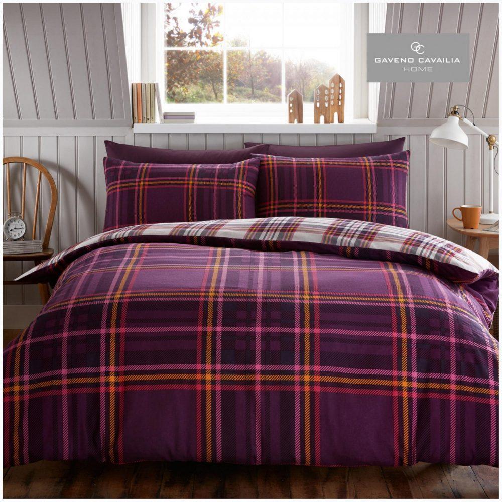 11358107 flannel duvet set tartan check single purple 1 2