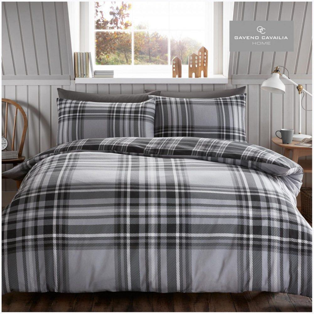 11358114 flannel duvet set tartan check single grey 1 2
