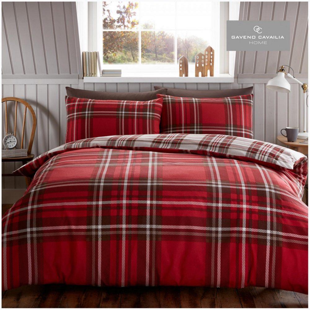 11358121 flannel duvet set tartan check single red 1 2