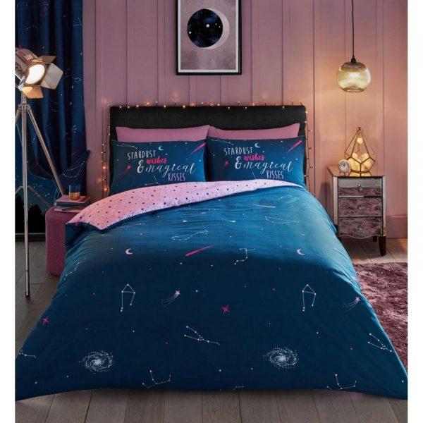 11359234 printed duvet set cosmic start dust double pink 1 2