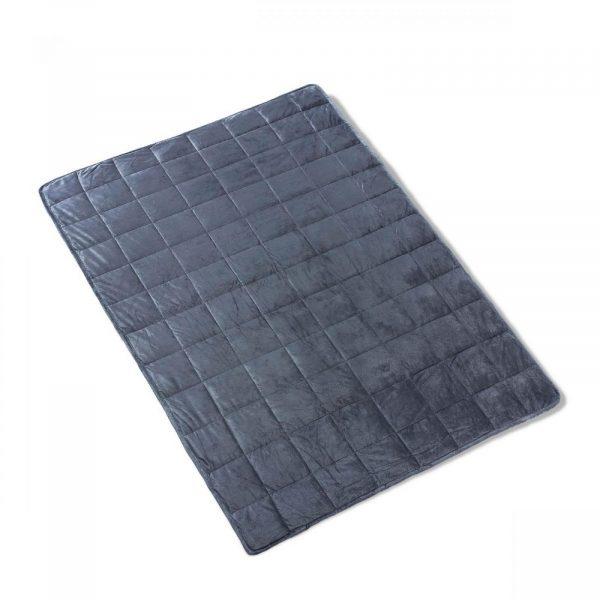 11364450 weighted blanket super soft minky 120x180 4450 6 8 kg net 1 2