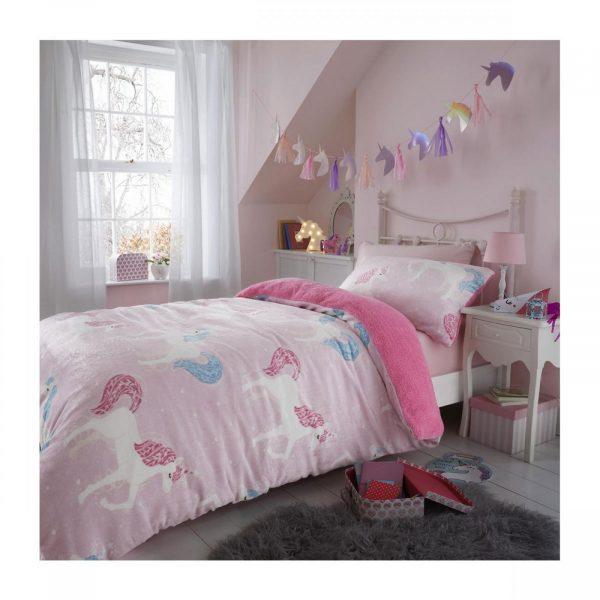 11365990 teddy kids duvet set starry unicorn double 1 2