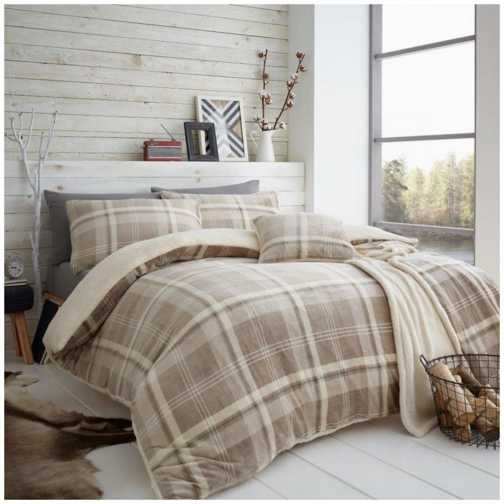 11366027 teddy duvet set lincoln check double natural 1 1