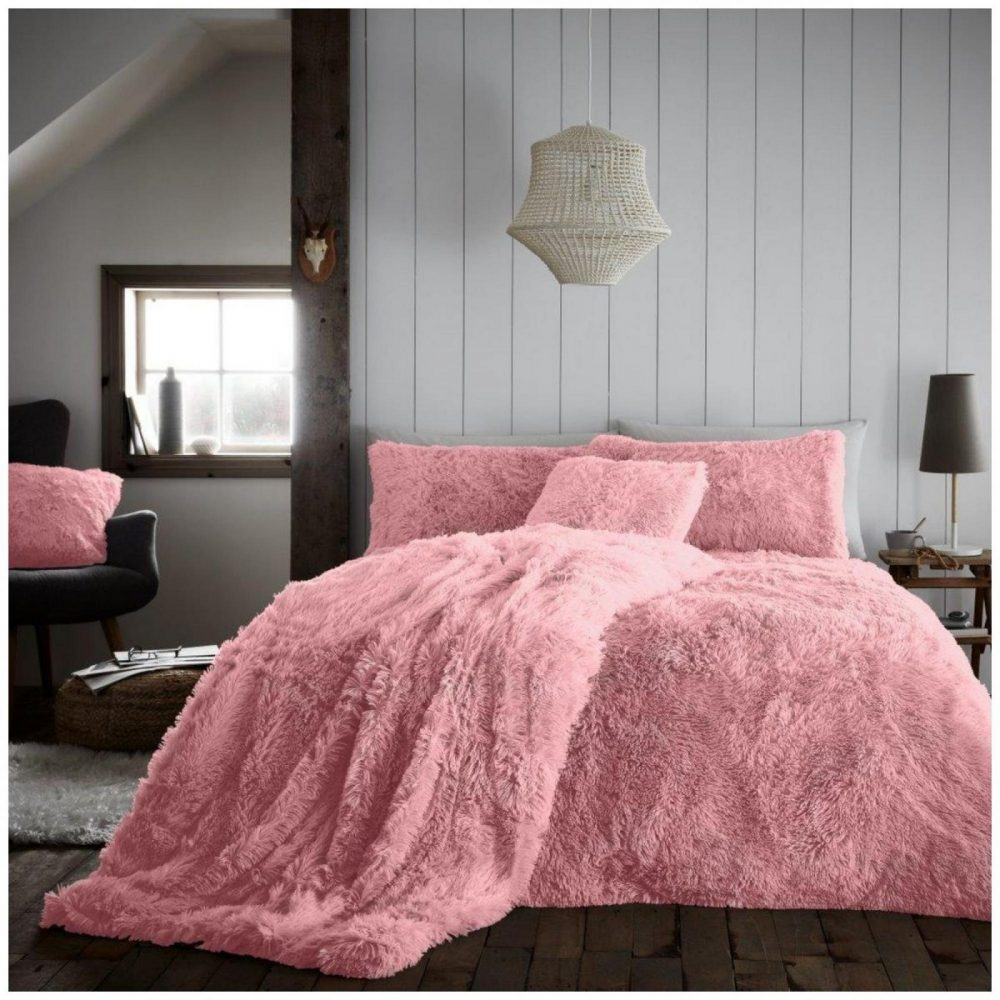 11368359 hugg snug duvet set double pink 4 pcs 1 2