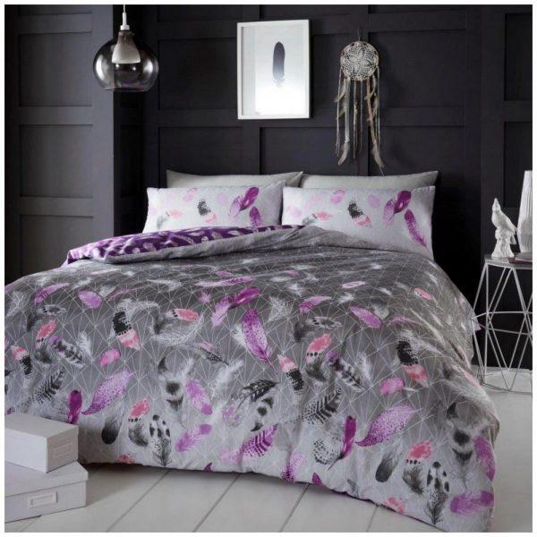 11368755 flannel duvet set feather double purple 1 2