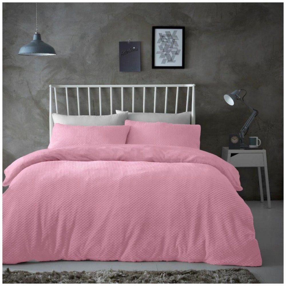 11368854 teddy duvet set popcorn double blush pink 1 1