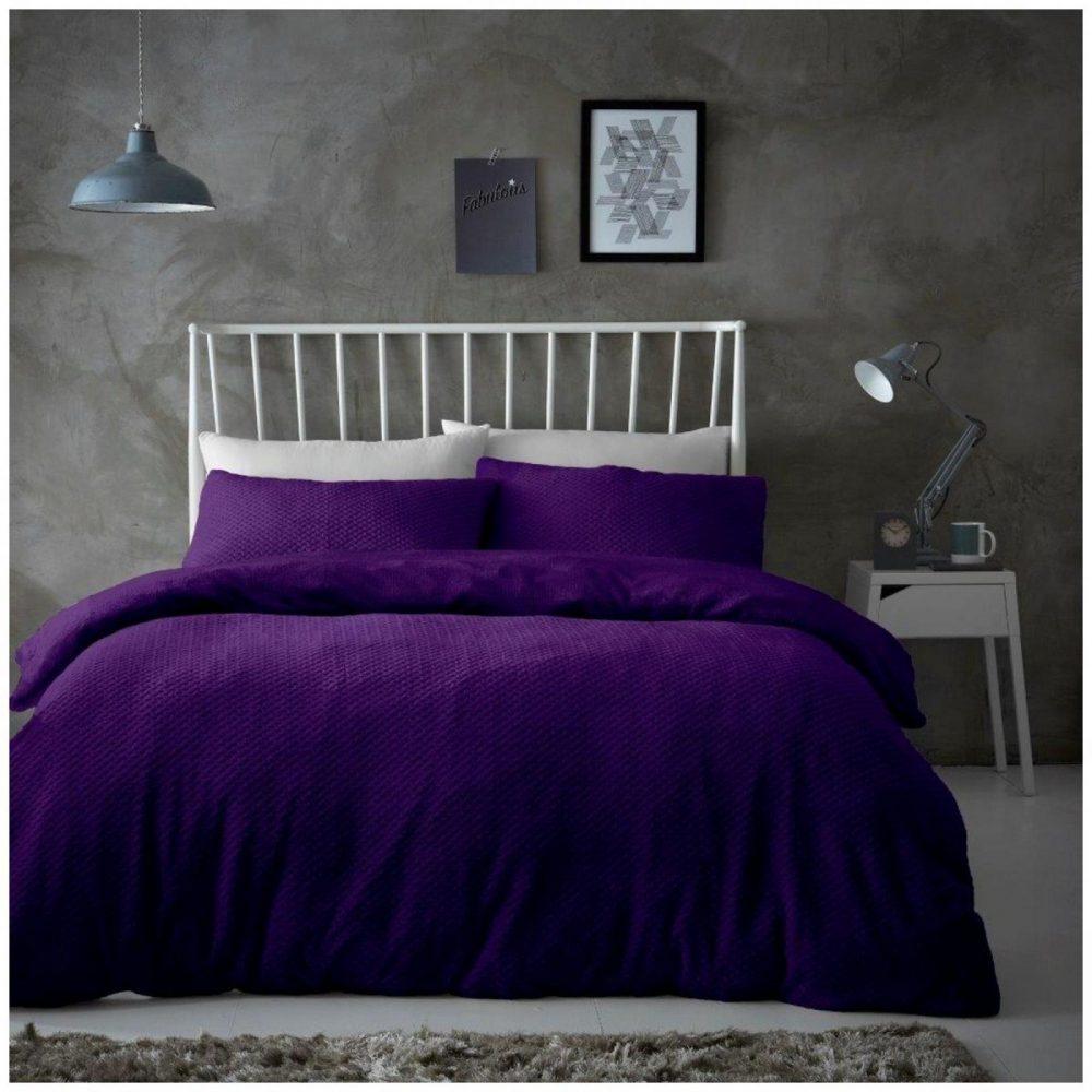 11369035 teddy duvet set popcorn double purple 1 1