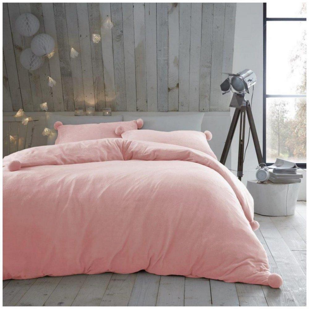 11369189 pom pom duvet set heather fleece double pink 1 2