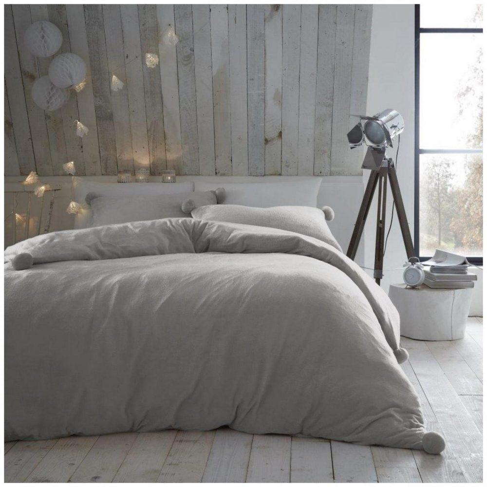 11369240 pom pom duvet set heather fleece double grey 1 2