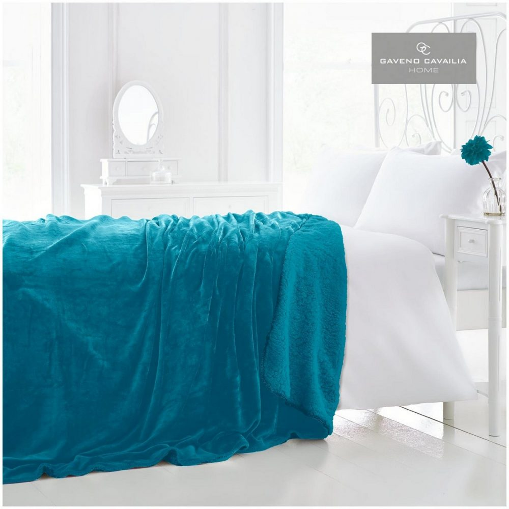 12090717 flannel sherpa throw 150x200 teal 1 2