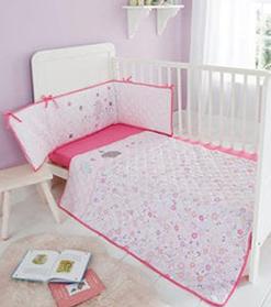 pink Cot Duvet