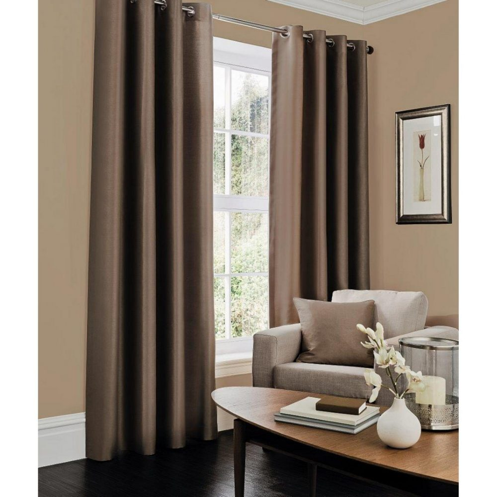 31069225 faux silk c cover 45x45 brown 1 2
