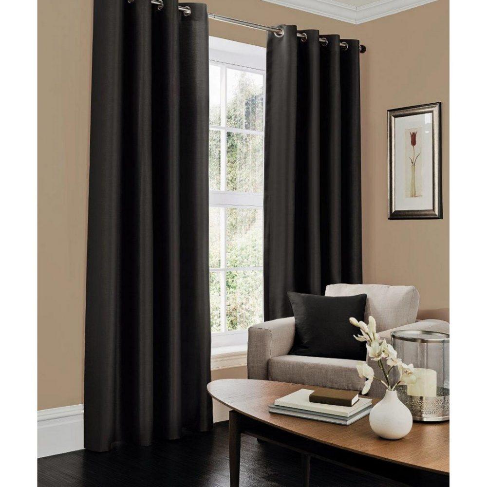 31069232 faux silk c cover 45x45 black 1 2