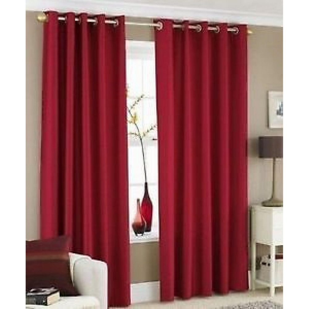 31069270 faux silk c cover 45x45 deep red 1 2