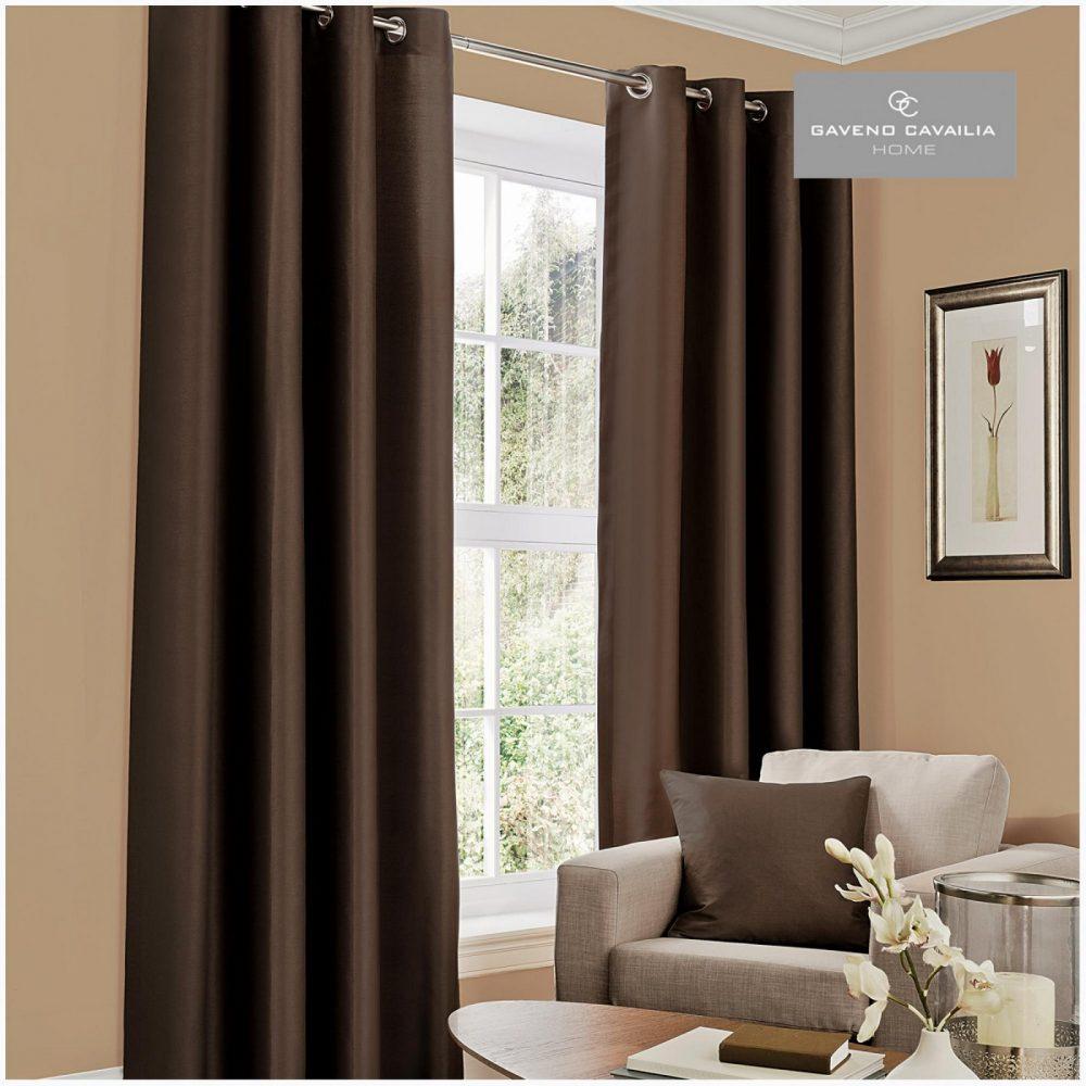 31079415 faux silk eyelet curtains 66x54 brown 1 2