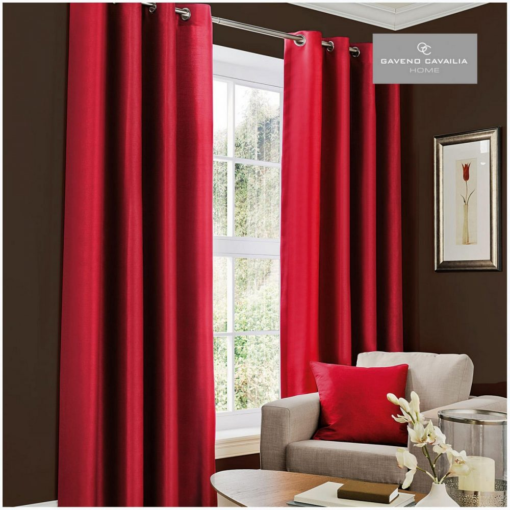 31079460 faux silk eyelet curtains 66x54 deep red 1 2