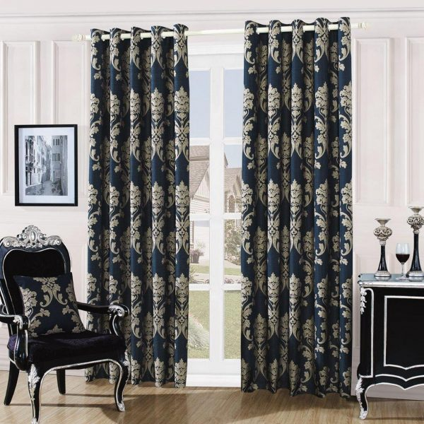 31087403 damask embossed curtains 66x72 black mink 1 2