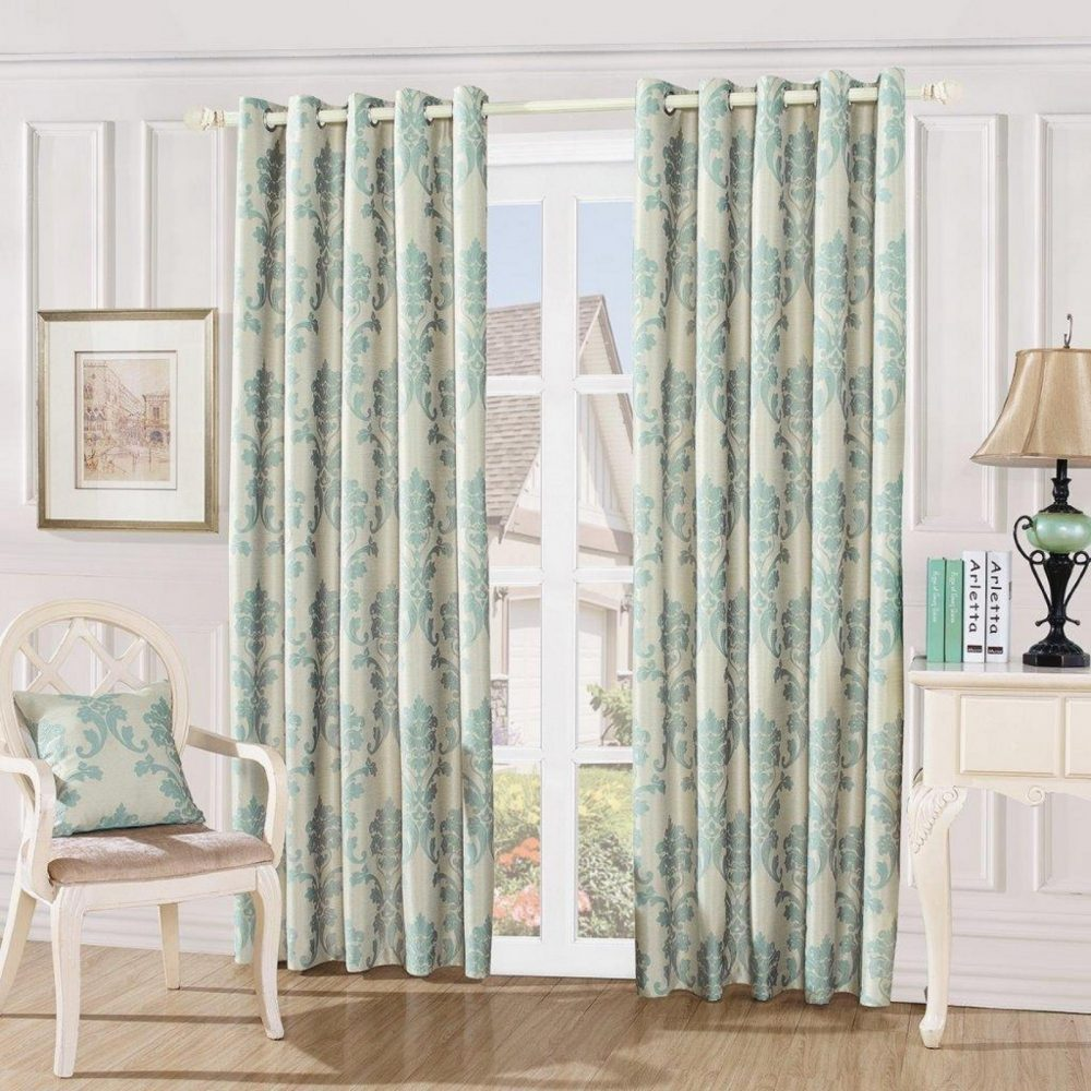 31087427 damask embossed curtains 66x72 teal 1 3