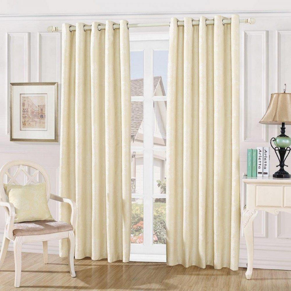31087458 damask embossed curtains 66x72 cream 1 3