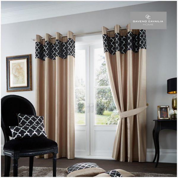 31123392 shiny curtain 66x72 light latte black 1 2