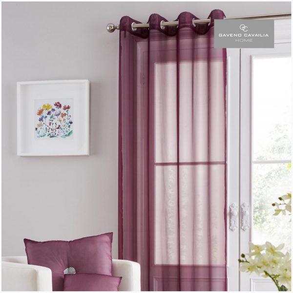 31125709 swiss v pile panel curtain 55x90 aubergine 1 2