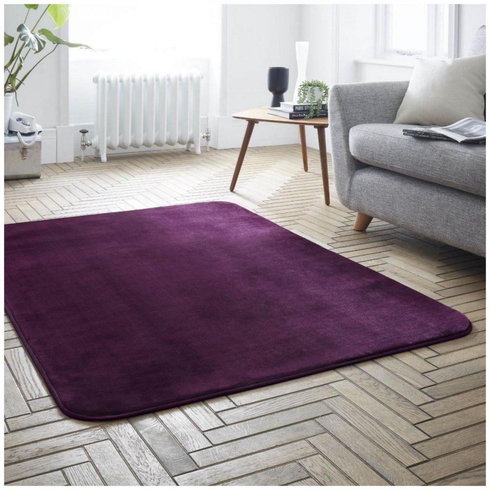 31136491 velvet touch rugs 100x150 aubergine 6491 1 2