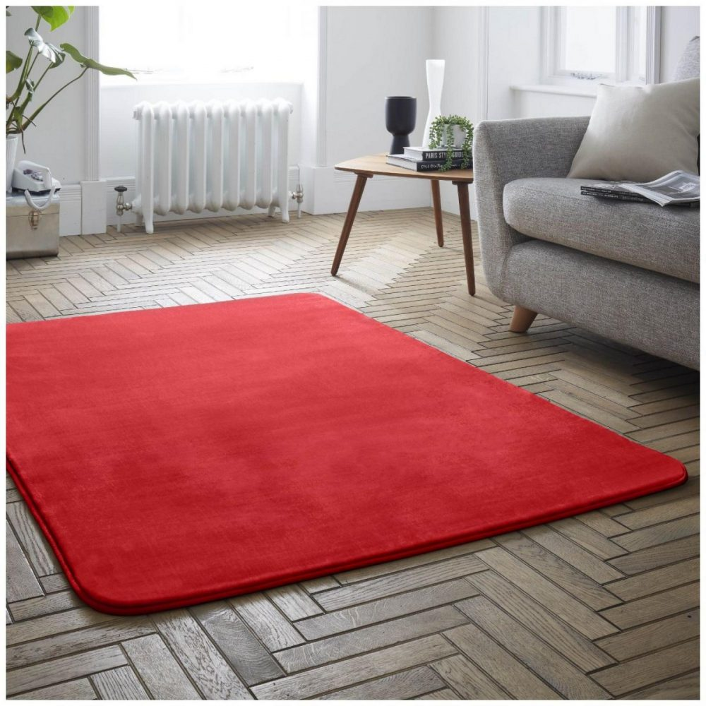 31136514 velvet touch rugs 100x150 red 6514 1 1