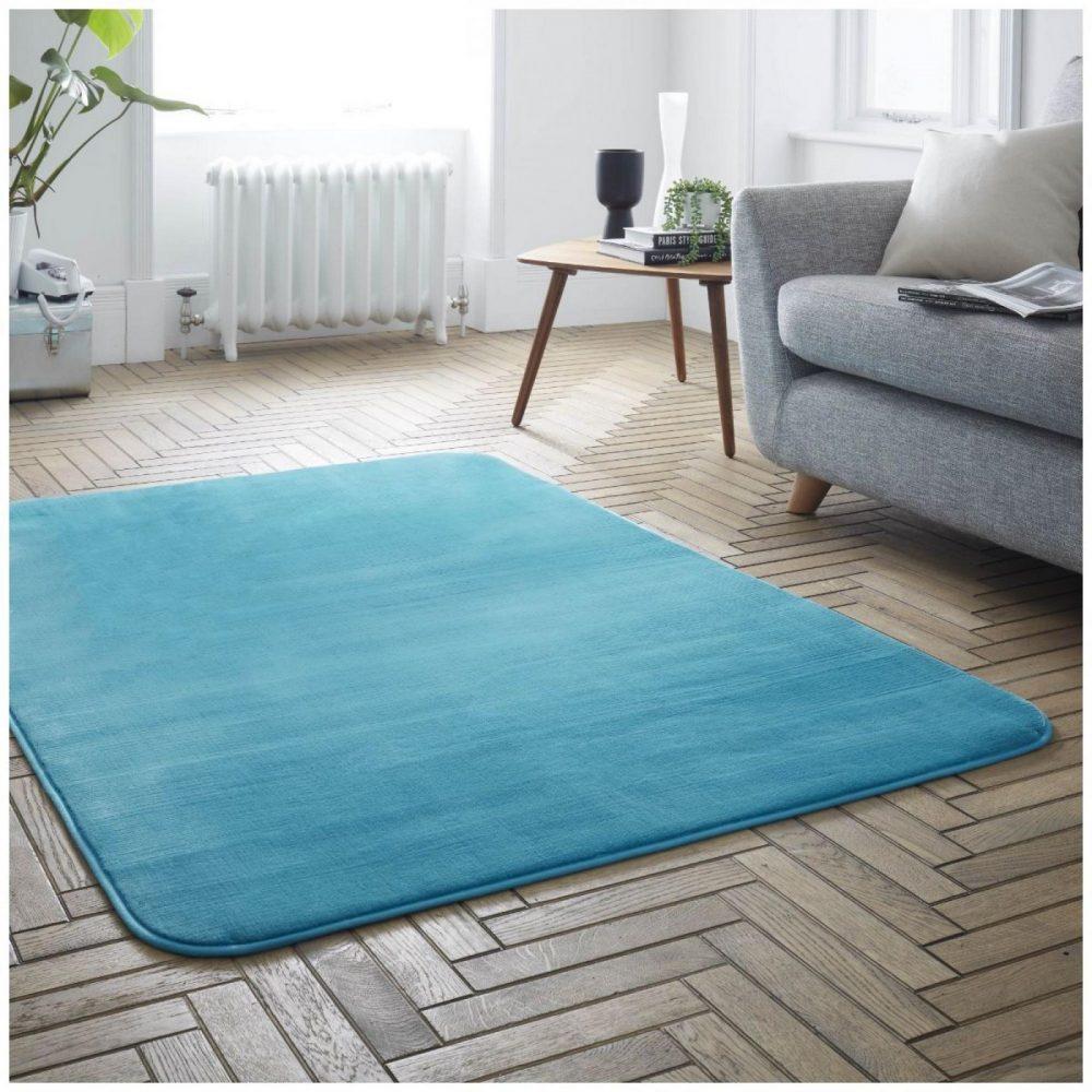 31136538 velvet touch rugs 100x150 teal 6538 1 1