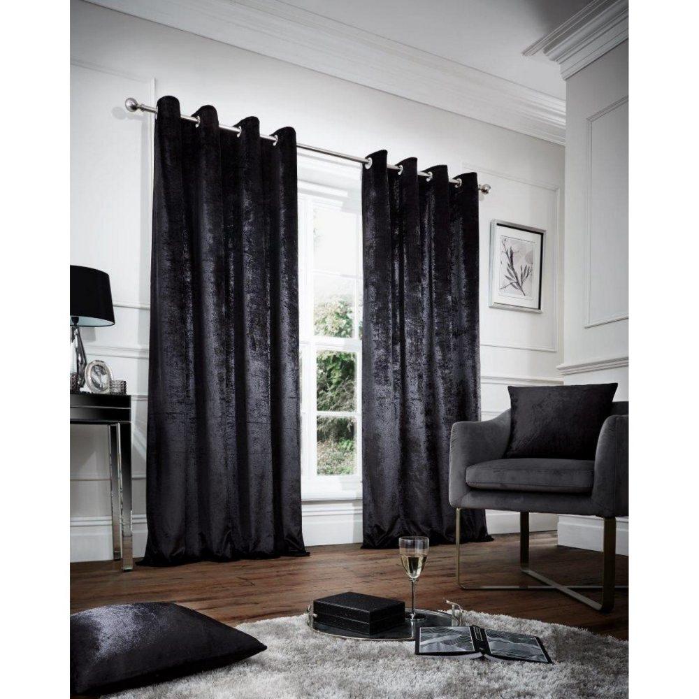 31148944 velvet cushion cover 45x45 black 1 2