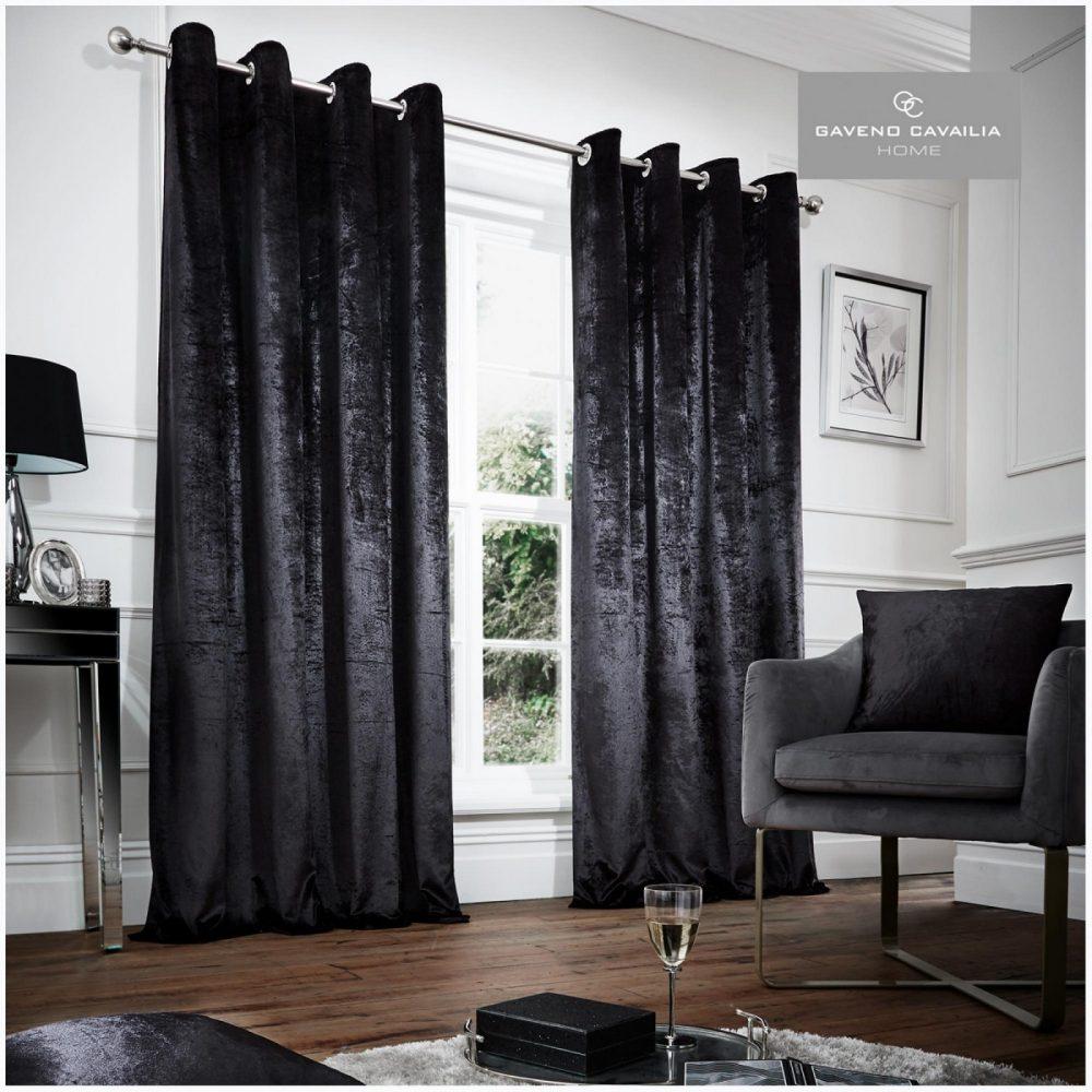 31148999 crushed velvet curtain 66x72 black 1 3