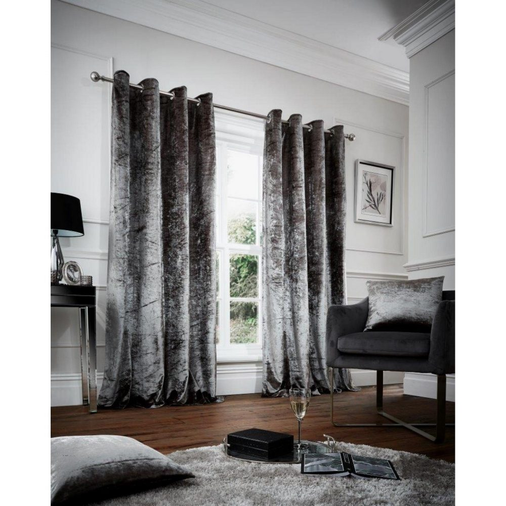 31149132 crushed cushion cover 45x45 grey 1 2