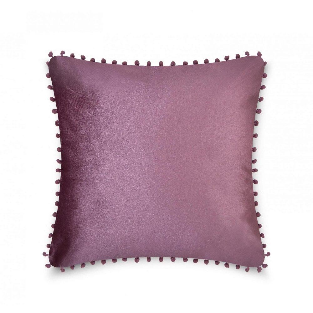 31159728 cushion cover pom pom 43x43 mauve 1 4