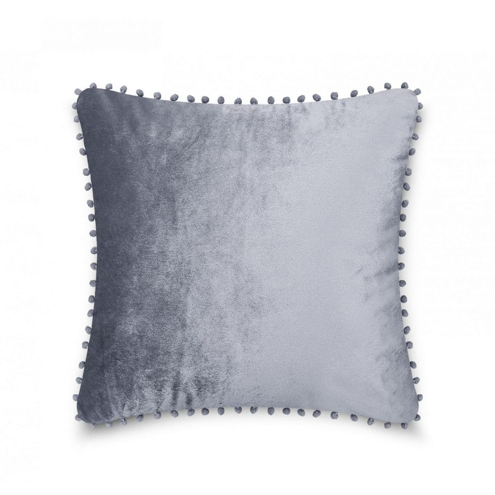 31159742 cushion cover pom pom 43x43 charcoal 1 4