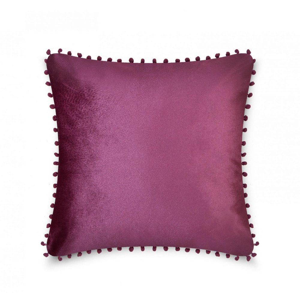 31159766 cushion cover pom pom 43x43 plum 1 4