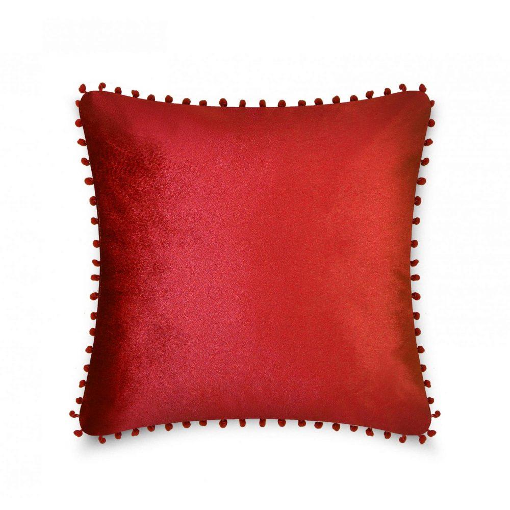 31159797 cushion cover pom pom 43x43 red 1 4