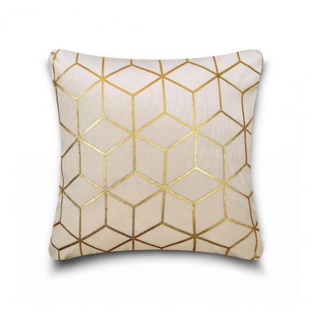 31159803 cushion cover metallic cube 43x43 cream gold 1 4