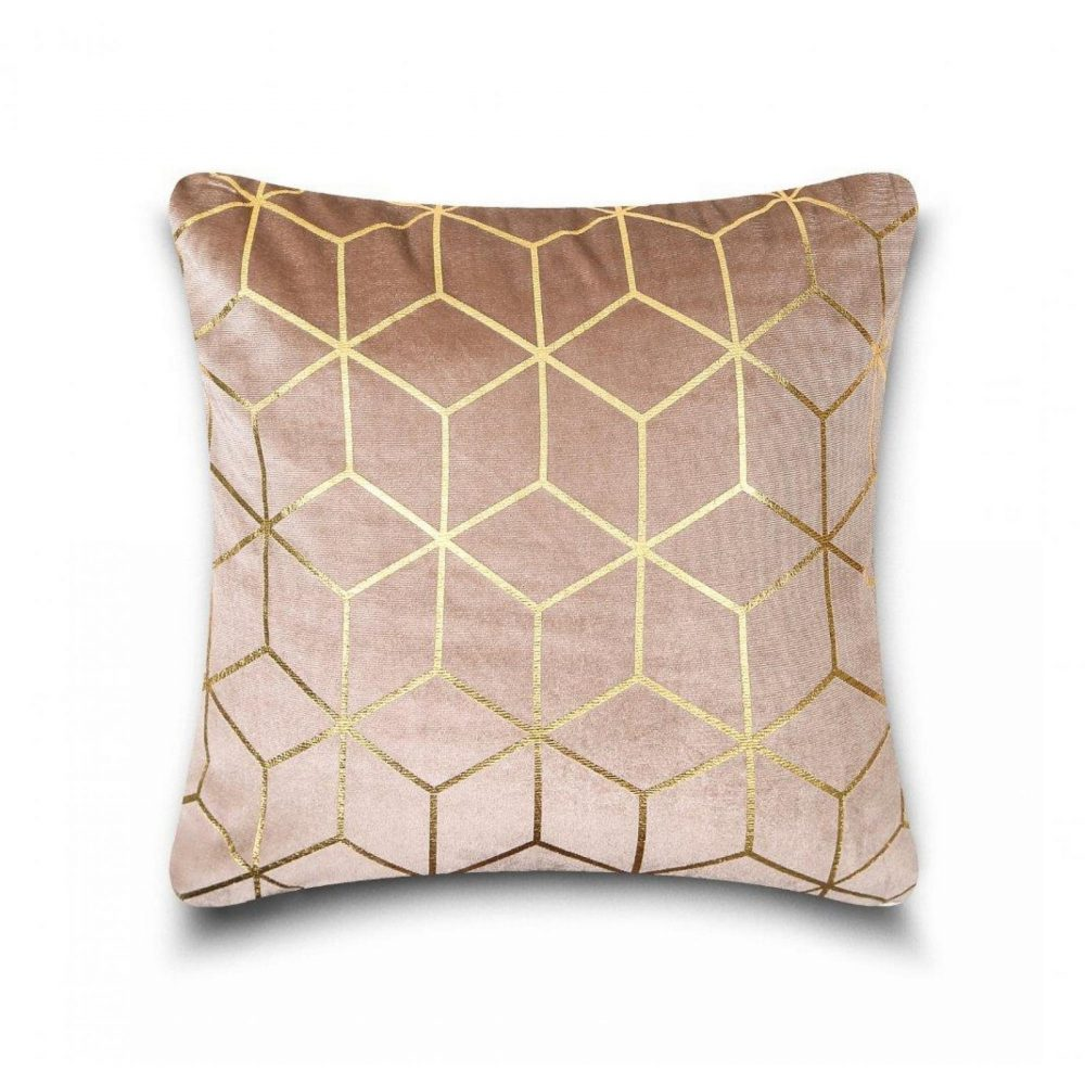 31159810 cushion cover metallic cube 43x43 natural gold 1 4