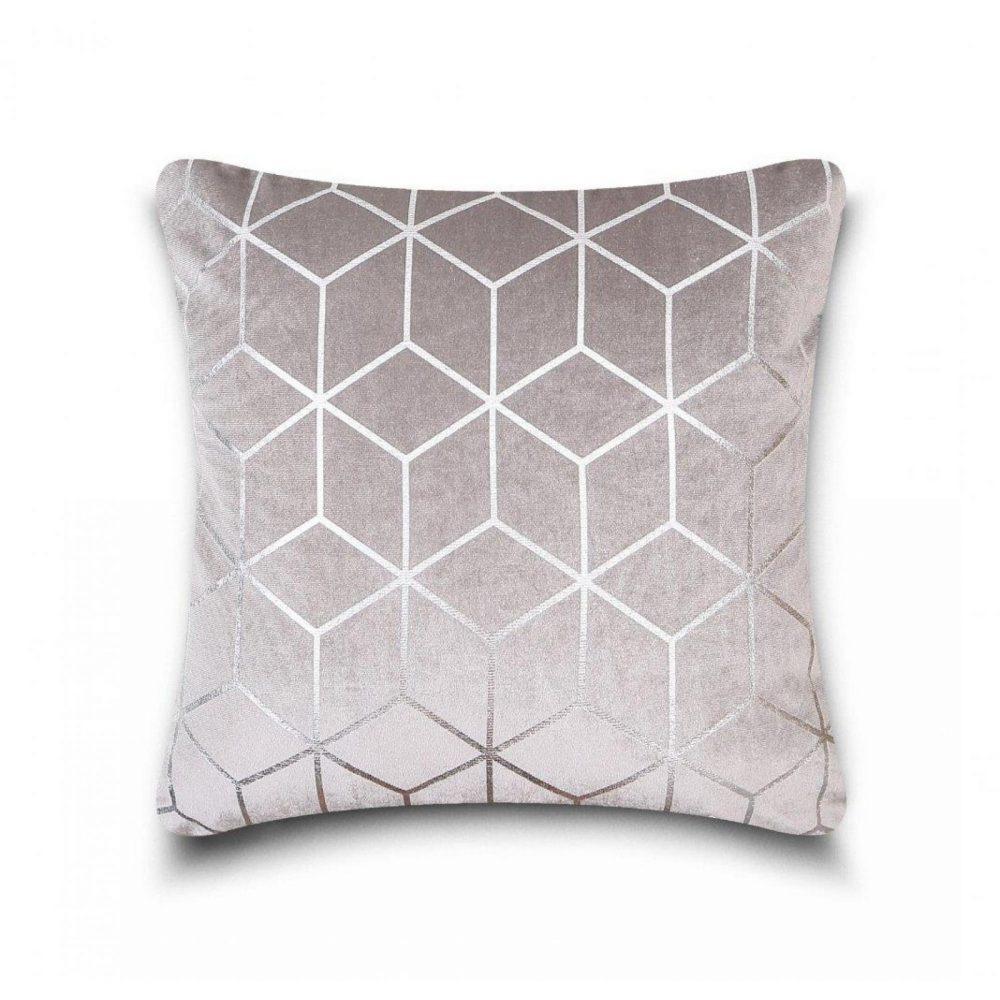 31159834 cushion cover metallic cube 43x43 grey silver 1 4
