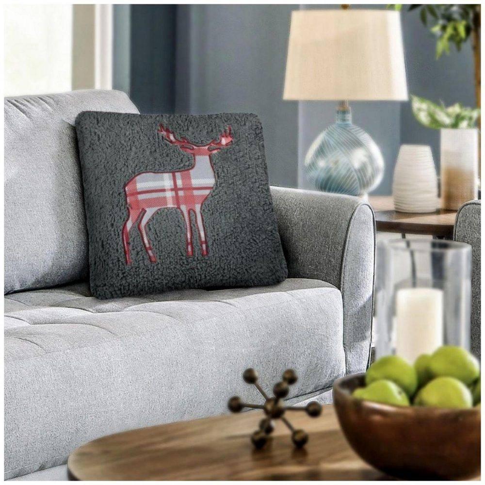 31356547 cushion cover emb teddy stag 45x45 charcoal 1 2