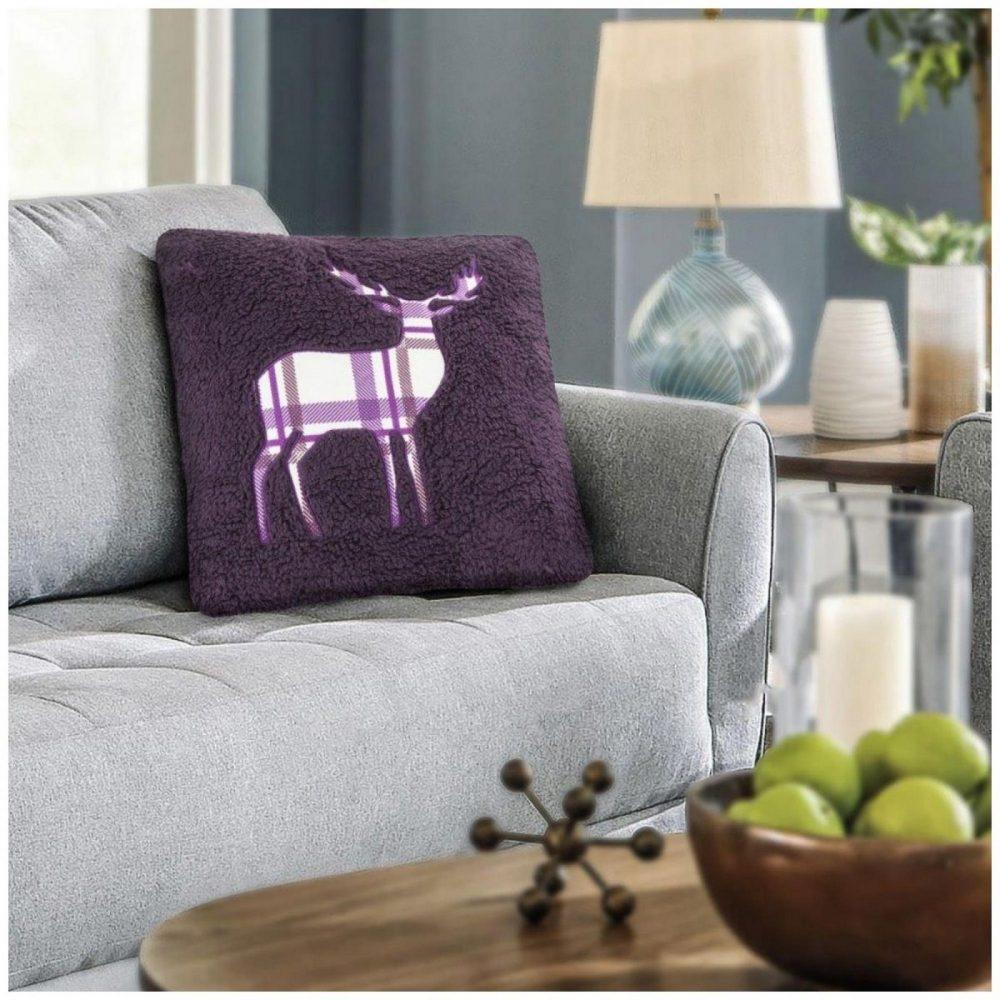 31356721 cushion cover emb teddy stag 45x45 purple 1 3
