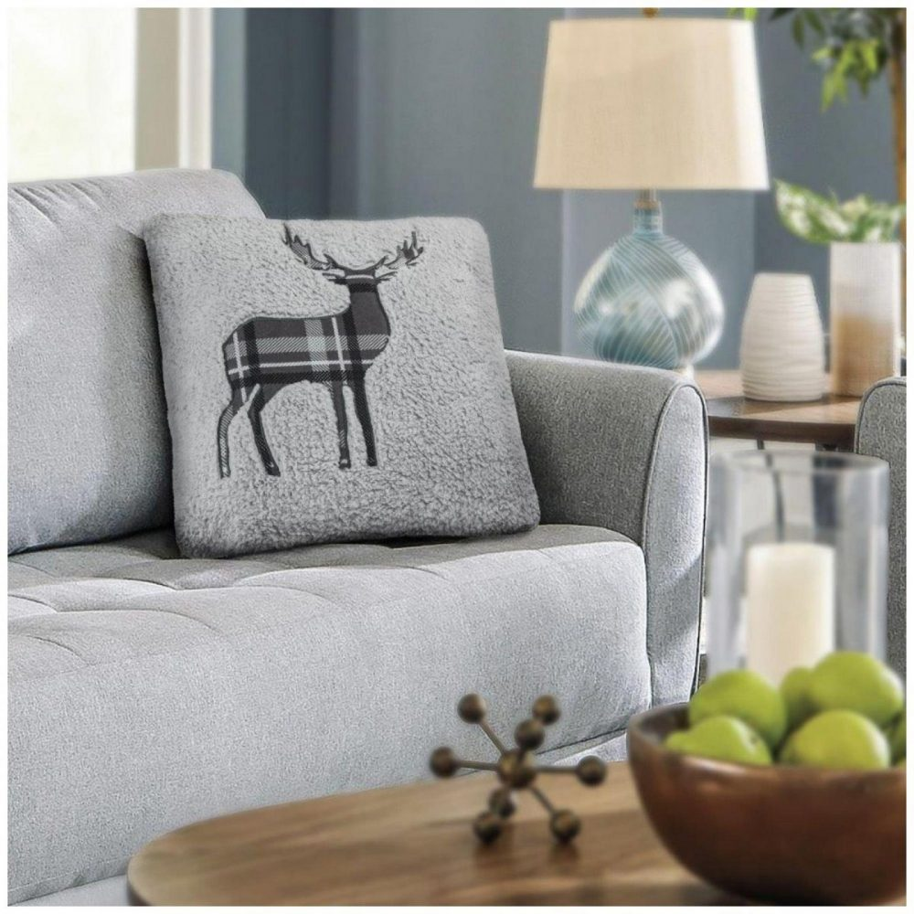 31356783 cushion cover emb teddy stag 45x45 silver 1 3