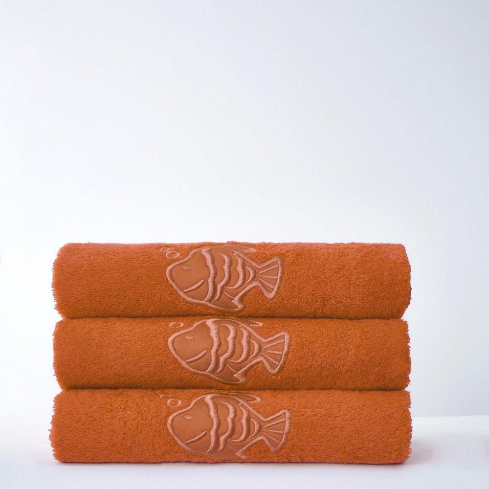41066668 fish bath sheet orange 24 pcs 1 3