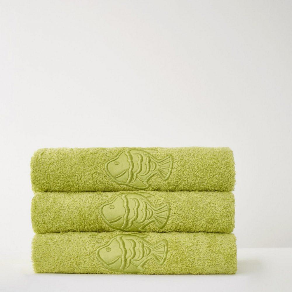 41066675 fish bath sheet lime 24 pcs 1 3